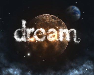Dream cloud burning word