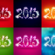 Happy New Year 2013 Greeting Card Template set — Stock Photo