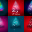 Abstract Christmas tree illustration set — Stock Photo
