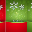 Bright stylish Christmas background with snowflake and copyspace — Stock Photo