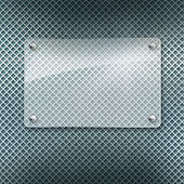 Abstract metal textured background with glass framework — Stock Photo