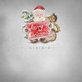 Beautiful hand drawn llustration Santa Claus with a Merry Christ — Stock Photo