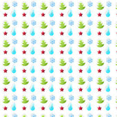 Christmas pattern on white wallpaper. Simple winter background w — Foto Stock