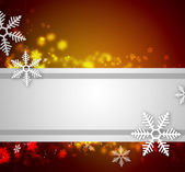 красивые снежинки новогодний фон с лентой и copyspa — Стоковое фото