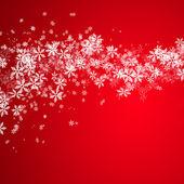 美しいスノーフレーク クリスマス背景 — ストック写真
