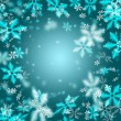 Beautiful abstract snowflake Christmas background — Stock Photo #14601811