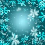 Beautiful abstract snowflake Christmas background — Stock Photo