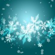 Beautiful abstract snowflake Christmas background — Stock Photo #14601833