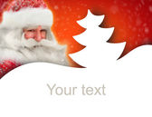 Christmas and New Year background with Santa Claus. Lots of copy — Stock Photo