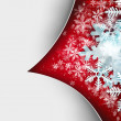 Beautiful snowflake Christmas background with white paper copysp — Stock Photo