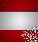 Beautiful Christmas background with ribbon and copyspace — Stock Photo