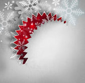 Beautiful snowflake Christmas old paper background with copyspa — Stock Photo