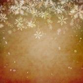 красивые снежинки рождественский фон с copyspace — Стоковое фото