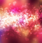 Abstract heart bokeh bright background — Stock Photo