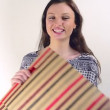 Happy girl with shopping bags — Stock Video