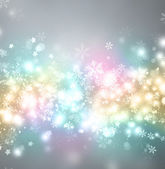 Beautiful bright snowflake background with copyspace — Stock Photo