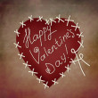 Valentine's day greeting card template — Stock Photo
