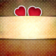 Valentine background: two hearts over retro background — Stock Photo #17217053