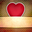 Valentine background: heart over retro texture — Stock Photo