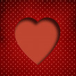 Stock Photo: Valentine background: heart over retro texture