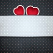 Pinup dotted Valentines day background — Stock Photo #17291309