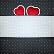 Stock Photo: Pinup dotted Valentines day background