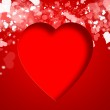 Valentines red abstract background with copyspace — Stock Photo