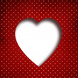 Stock Photo: Grunge dotted Valentines day background with copyspace