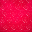 Stock Photo: Valentines day wrapping paper heart textured background