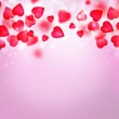 Valentine background with red hearts — Stock Photo