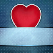 Pinup dotted Valentines day background — Stock Photo