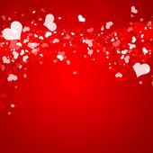 Valentinky červené pozadí abstraktní s copyspace — Stock fotografie