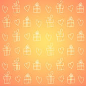 Valentines day wrapping paper textured background — Stock Photo