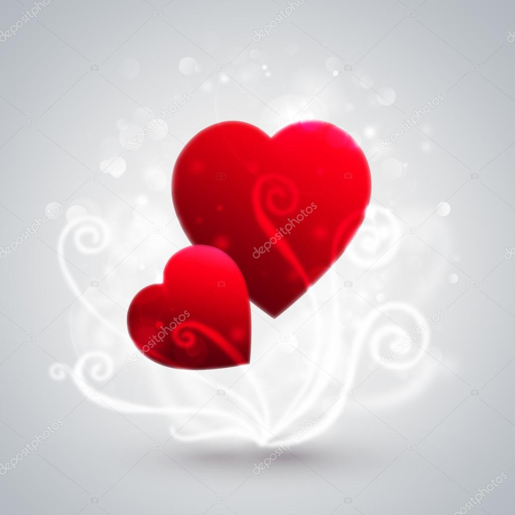 Beautiful hearts. Valentine day greeting card template — Stock Photo #18309867
