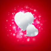 Beautiful hearts. Valentine day greeting card template — Stock Photo