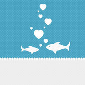 Valentine background: two fishes in love — Foto de Stock