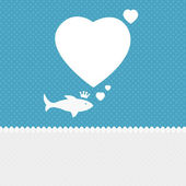 Valentine background: fish dreaming about love — Stock Photo