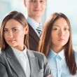 Portrait of an attractive young business group standing together — Stockfoto #20098105