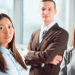 Portrait of an attractive young business group standing together — Stock Photo