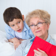 Grandmother and little boy  — Stock Photo #25601465