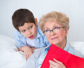 Grandmother and little boy — Stock Photo