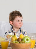 Child on breakfast — Stock Photo