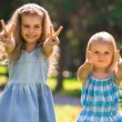 Little girls having fun together — Stock Photo