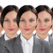 Group of business women clones — Stock Photo