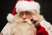 Santa Claus have an idea — Stock Photo