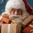 Santa Claus with his sack of presents — Stock Photo #32857803