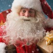 Santa Claus with his sack of presents — ストック写真