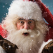 Santa Claus blowing snow — Stock Photo #32857843