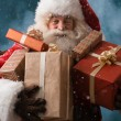 Santa Claus with his sack of presents — Stock Photo #32857885