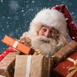 Santa Claus with his sack of presents — Stock Photo #32857923